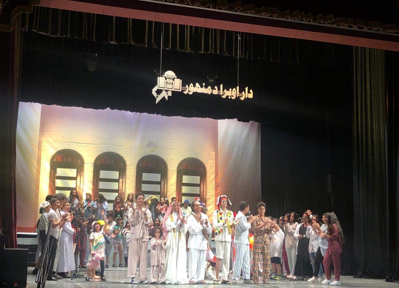 تقديم أشهر أغانى الأطفال على مسرح دار أوبرا دمنهور (2)