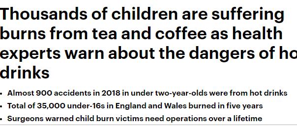 احذرو الشاى الساخن