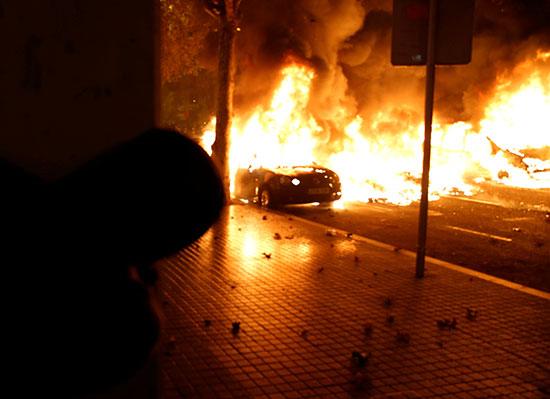 حرق السيارات
