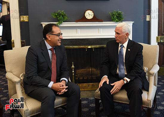 لقاء الدكتور مصطفى مدبولى و نائب الرئيس الأمريكى