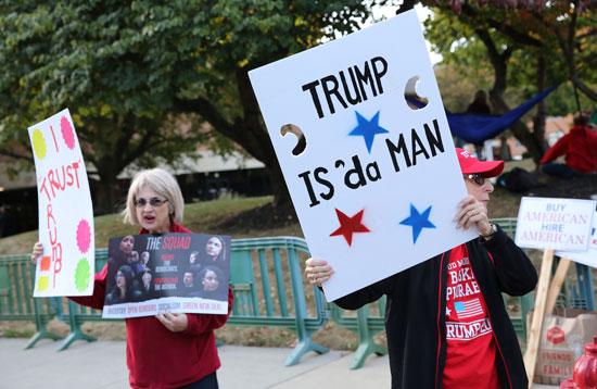 جانب من التظاهرات الداعمة لترامب