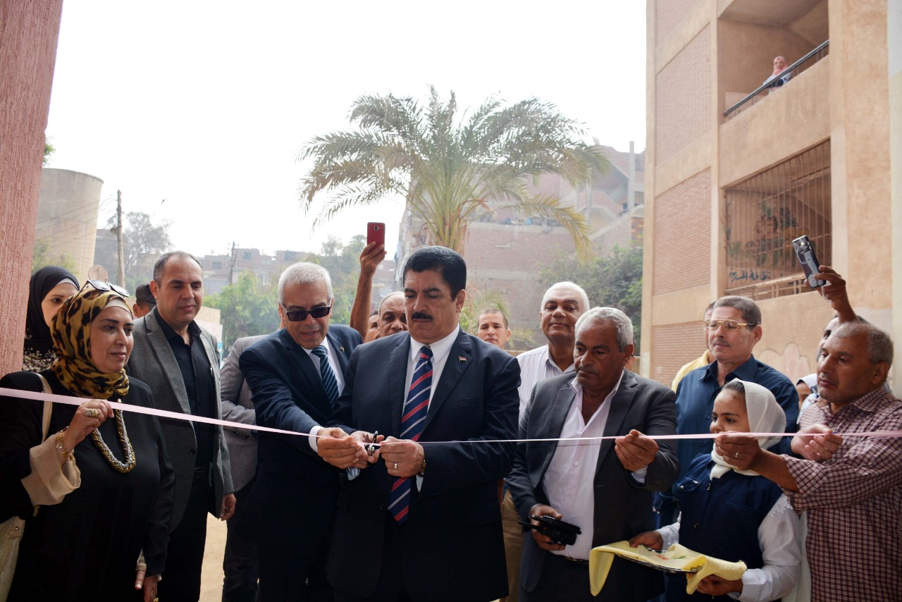 المحافظ يفتتح مبني المدرسة الجديد