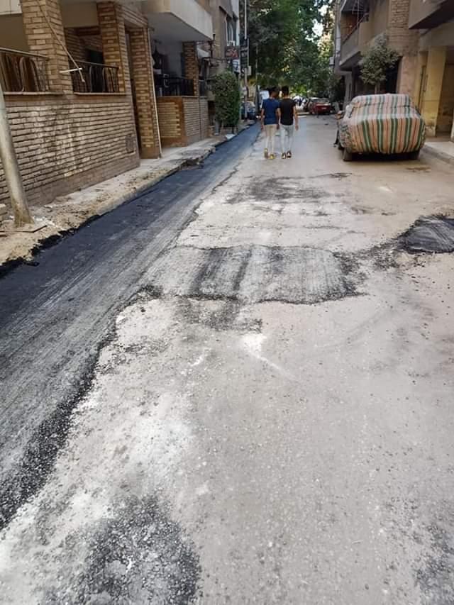 اعمال تطوير بشوارع بولاق الدكرور وترميم أخرى بالعمرانية
