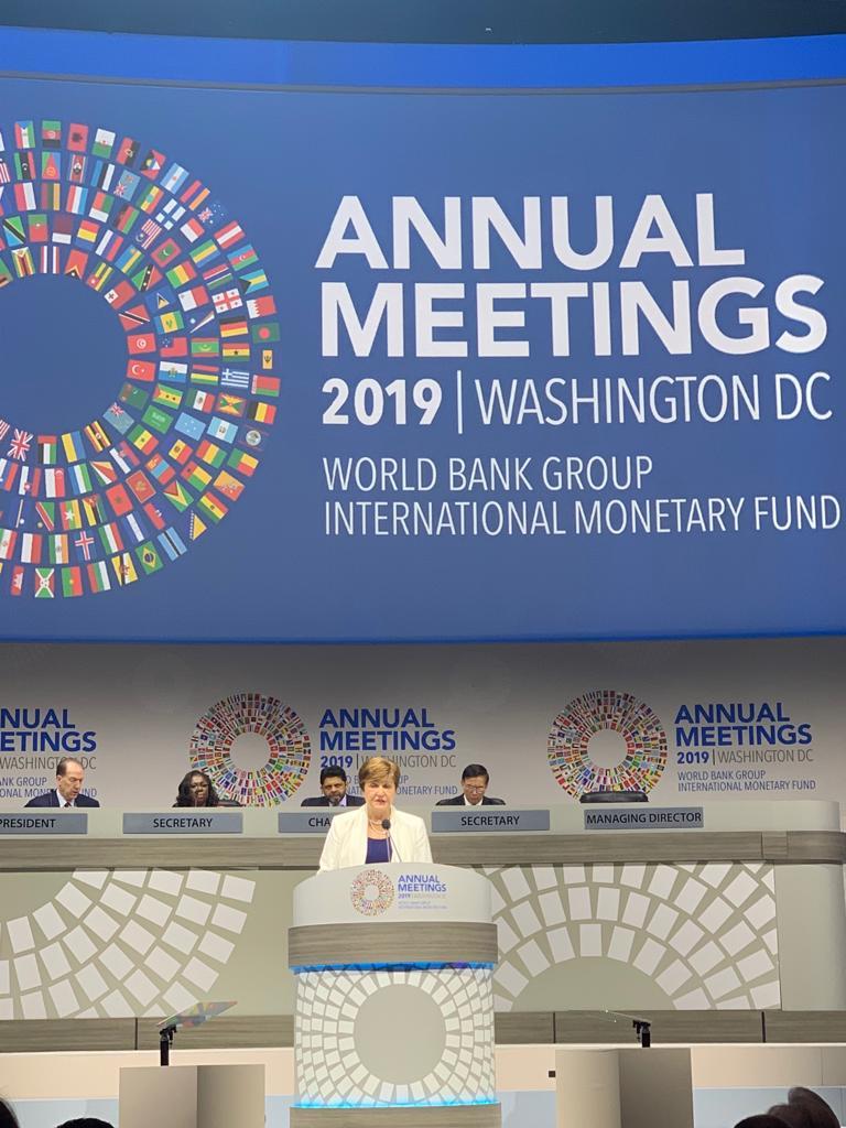 مدير صندوق النقد الدولى خلال الاجتماعات السنوية