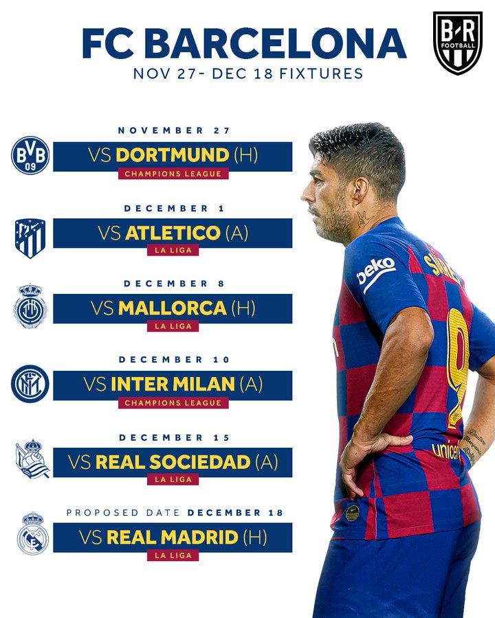 مواجهات برشلونة فى ديسمبر