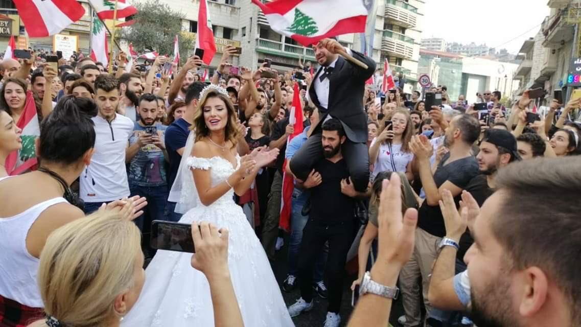 حفل زفاف آخر فى شوارع لبنان