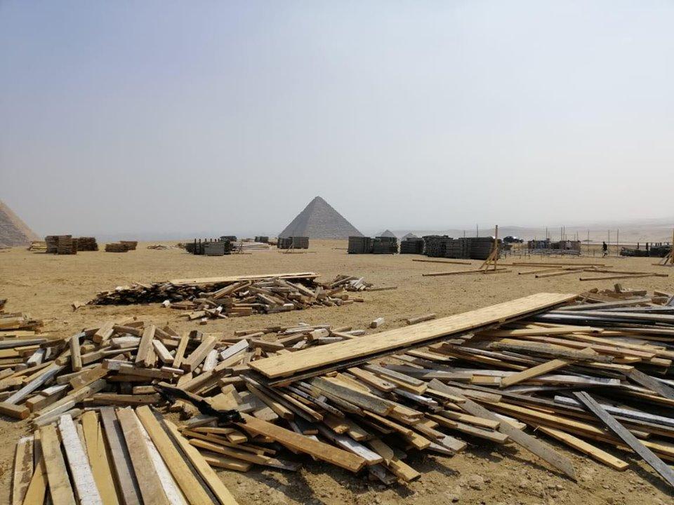 انشاء المدرجات في الاهرامات