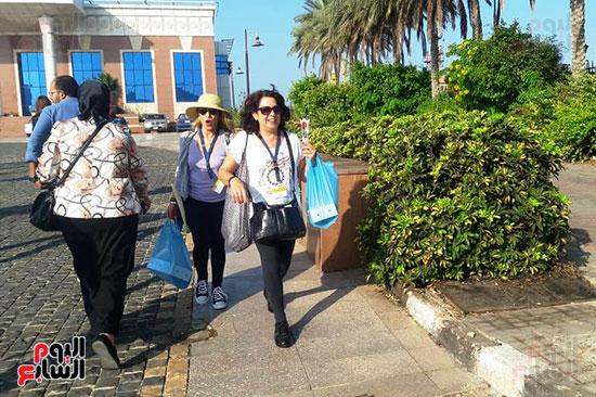 وصول الفوج السياحي للاسكندرية