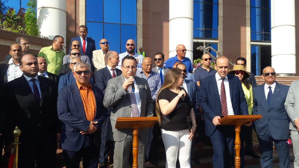 محافظ الإسكندرية خلال المؤتمر (3)