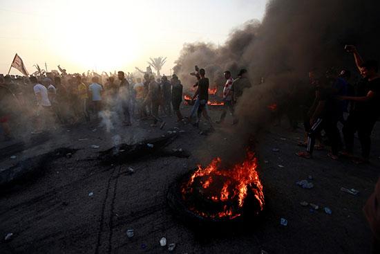 الاحتجاجات فى بغداد