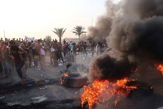المحتجين فى بغداد