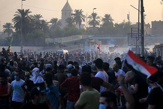 احتجاجات واسعة فى بغداد