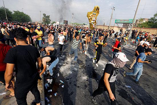 اتساع رقعة الاحتجاجات فى بغداد العراقية