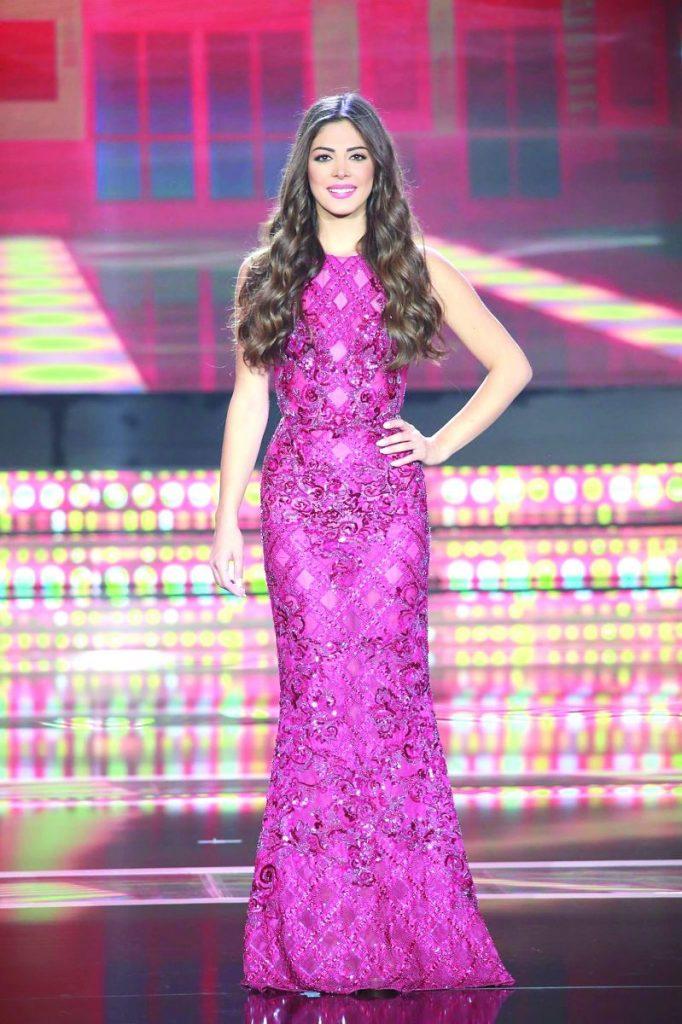 ميشيل حجل فى مسابقة ملكة جمال لبنان