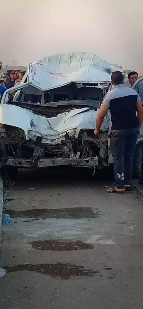 تصادم سيارات بطريق بنها الحر  شبرا الخيمة  (3)