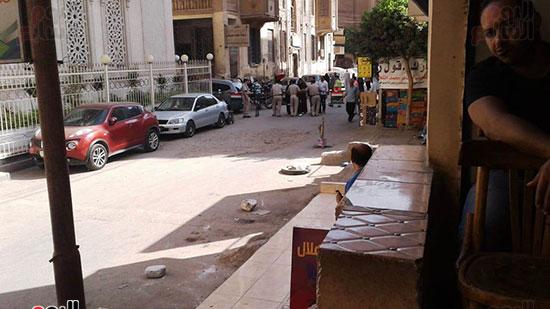 تجمع-قوات-الأمن-أمام-محكمة-شبين-الكوم