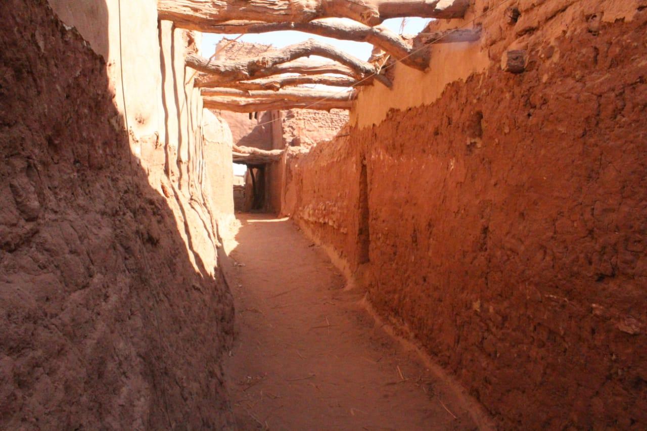 جانب من العمل داخل مدينة بلاط الأثرية (2)