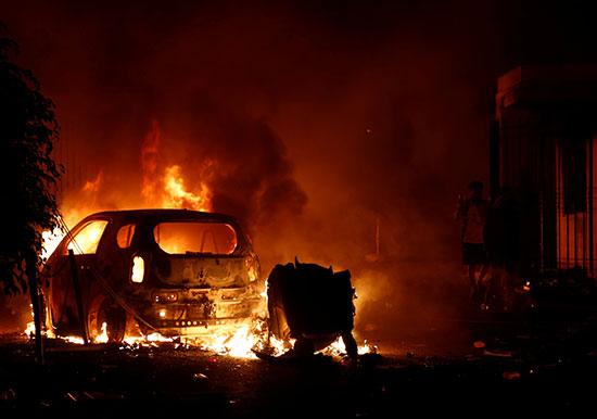 أعمال العنف والشغب فى المخيم