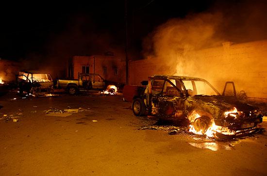 أعمال العنف فى المخيم