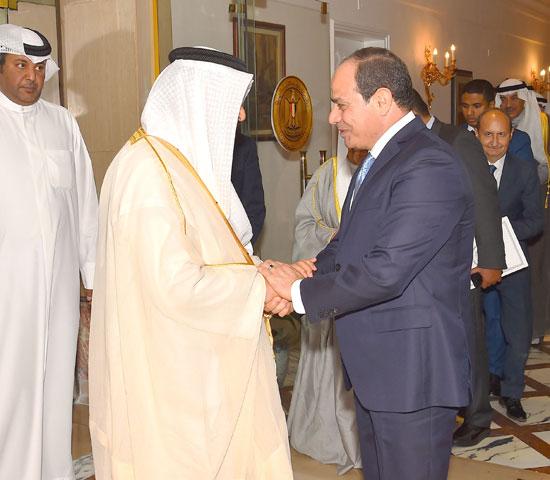 استقبال الرئيس عبد الفتاح السيسي للشيخ جابر المبارك الحمد الصباح، رئيس مجلس الوزراء الكويتي (7)