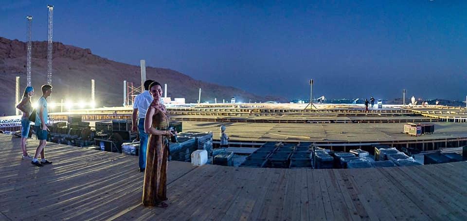 شاهد مسرح أوبرا عايدة يقترب من اللمسات النهائية قبل 4 أيام علي بدء العروض بالأقصر (1)