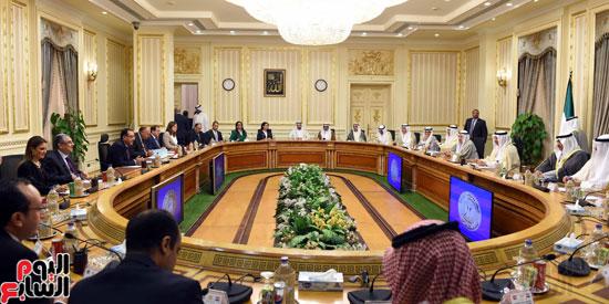 جلسة مباحثات مصرية كويتية