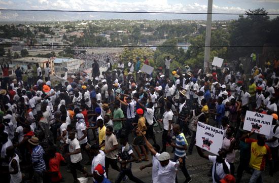 مظاهرات هايتى تطالب بتنحى الرئيس
