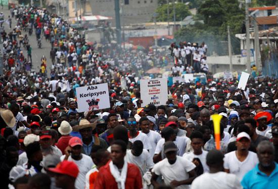 احتجاجات هايتى