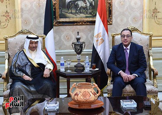 مدبولى مع رئيس وزراء الكويت (1)