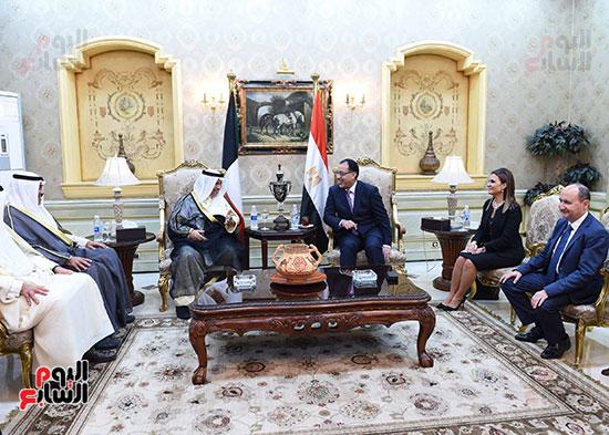 مدبولى مع رئيس وزراء الكويت (3)