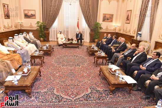 جانب من المباحثات المصرية الكويتية