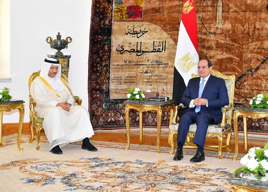 استقبال الرئيس عبد الفتاح السيسي للشيخ جابر المبارك الحمد الصباح، رئيس مجلس الوزراء الكويتي (3)