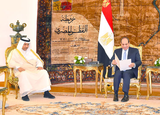 استقبال الرئيس عبد الفتاح السيسي للشيخ جابر المبارك الحمد الصباح، رئيس مجلس الوزراء الكويتي (4)