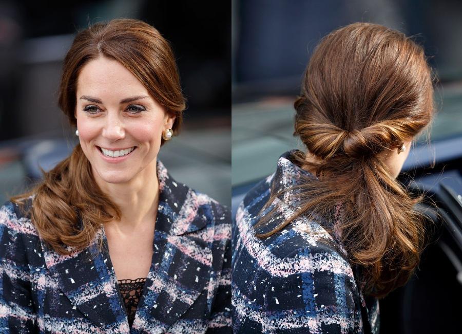 كيت تعتمد على شعر أشقر تحت شعرها الداكن الكثيف