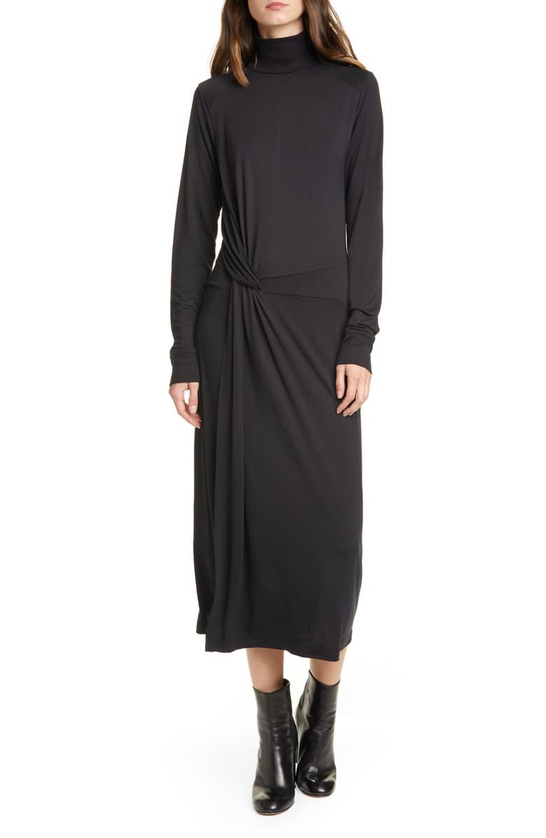 فستان أسود خريفى أنيق