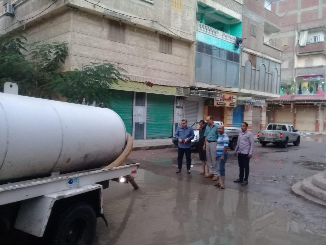 شفط المياه من الشوارع