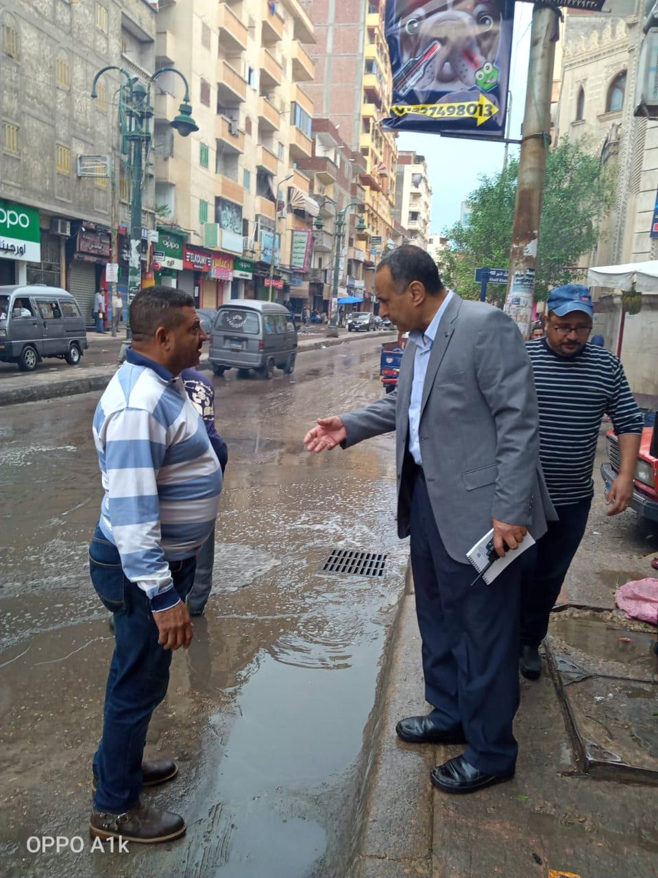 محافظ الإسكندرية يكلف السكرتير العام بتفقد تصريف الأمطار خلال النوة (1)
