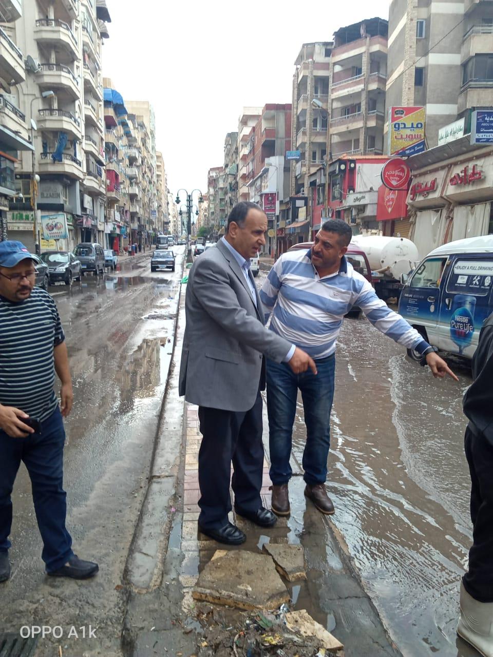 محافظ الإسكندرية يكلف السكرتير العام بتفقد تصريف الأمطار خلال النوة (4)