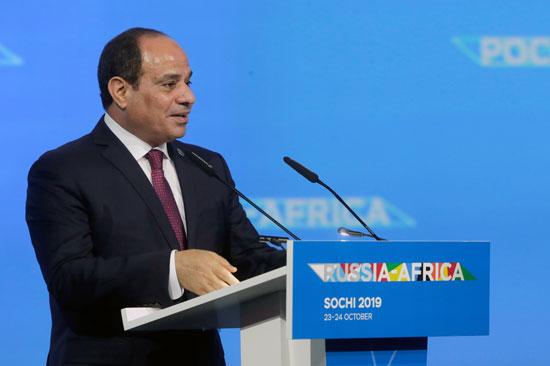 الرئيس-السيسى-يلقى-كلمته-فى-منتدى-روسيا-افريقيا