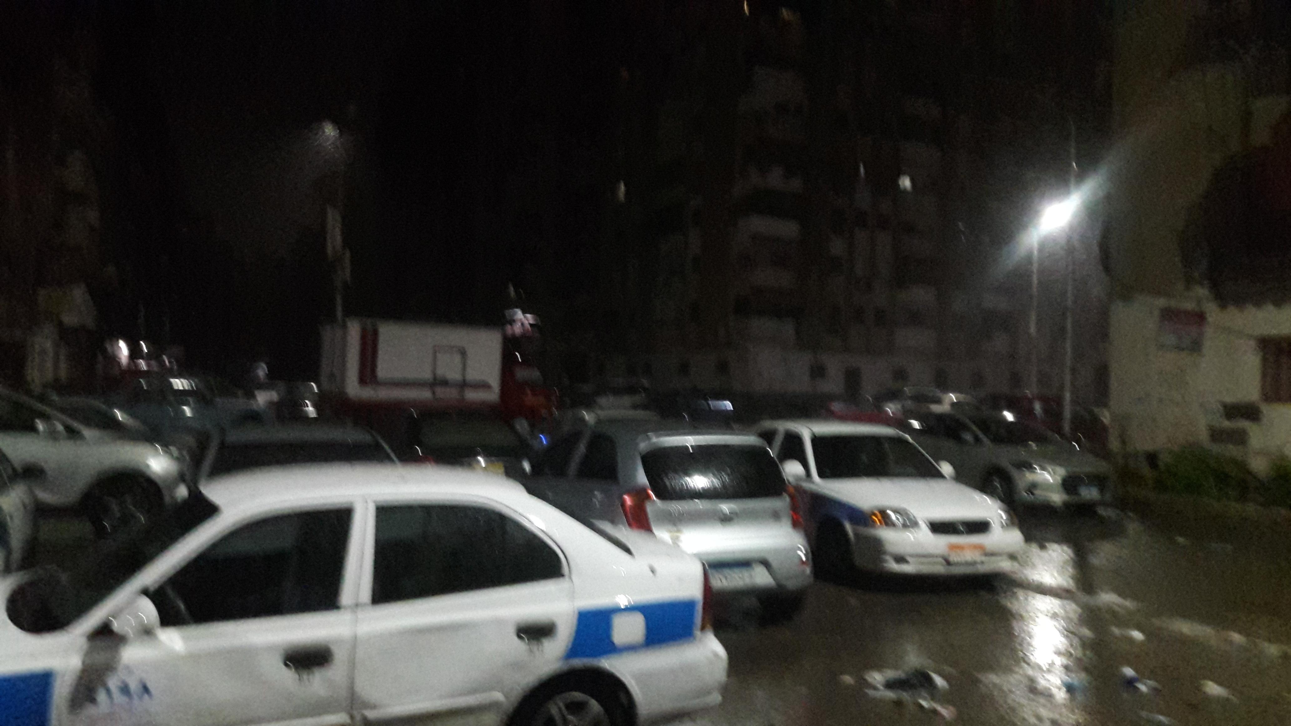 سقوط أمطار رعدية على مدينتى بورسعيد وبورفؤاد (1)