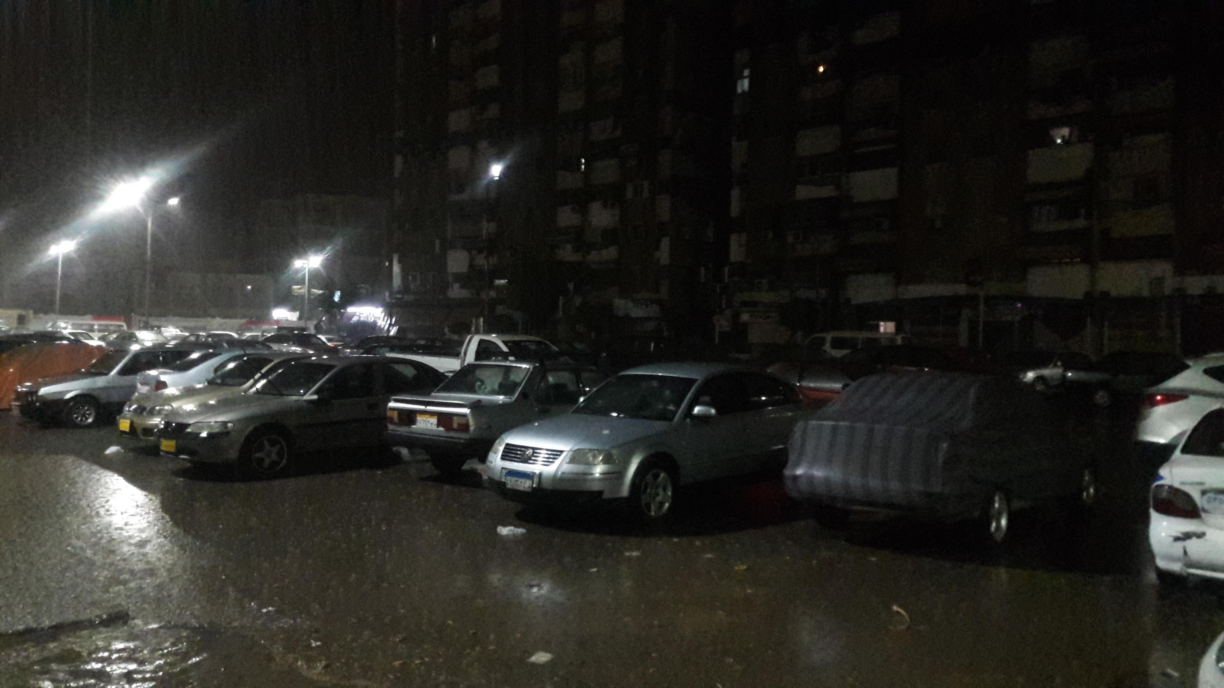 سقوط أمطار رعدية على مدينتى بورسعيد وبورفؤاد (2)