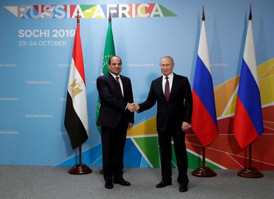 السيسى-وبوتين-فى-قمة-روسيا-افريقيا