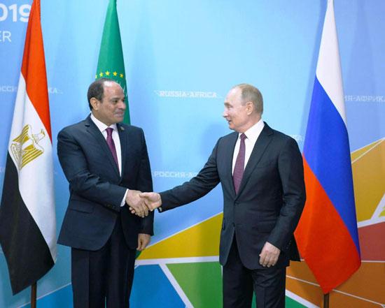 لقاء بوتن بالرئيس السيسي (2)
