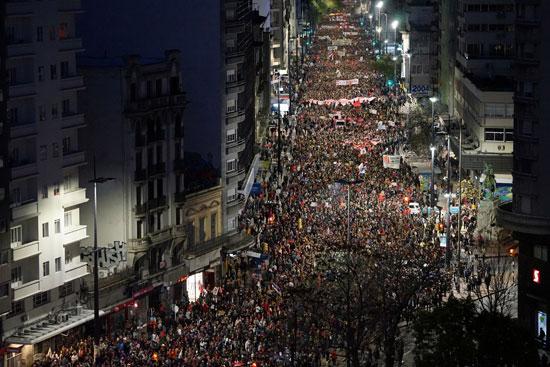 تظاهرات فى أوروجواى