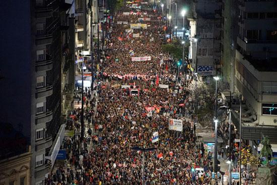 احتجاجات أوروجواى