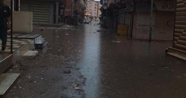 غرق الشوارع بمياه الصرف