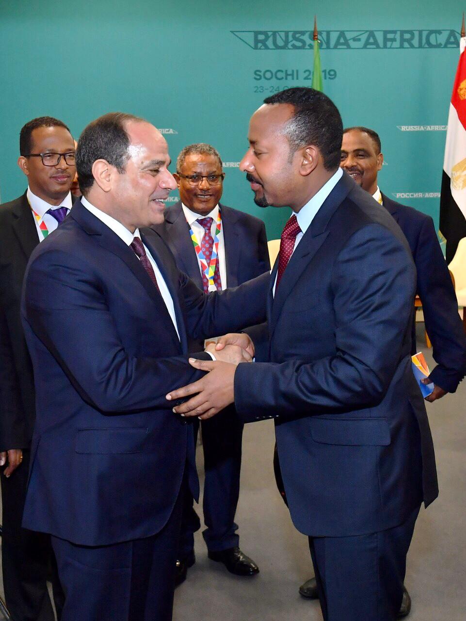 الرئيس عبد الفتاح السيسى، ورئيس الوزراء الإثيوبي آبي احمد، (1)