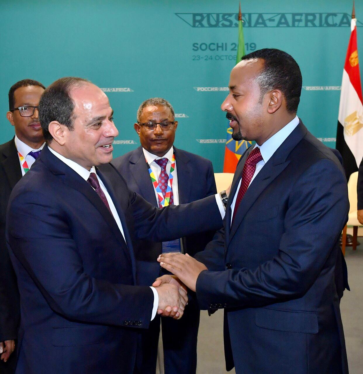 الرئيس عبد الفتاح السيسى، ورئيس الوزراء الإثيوبي آبي احمد، (2)