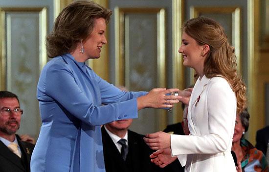 دوقة برابانت الأميرة إليزابيث تتلقى تهنئة والدتها