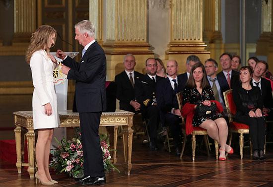 الملك البجيكى يمنح ابنته وسام ليوبولد